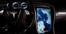 Tesla et son écran tactile de 17 pouces au CES