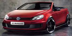 Volkswagen cabriolet Golf GTI concept.