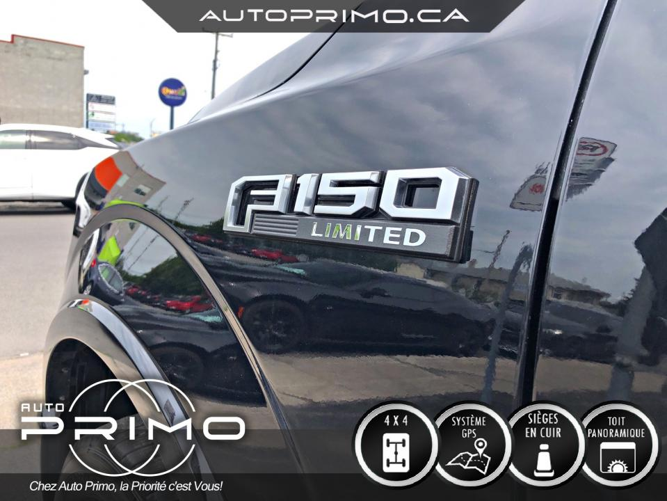 Ford F-150 Limited 4X4 Crew Cab Toit Pano Cuir Brun 2017 complet