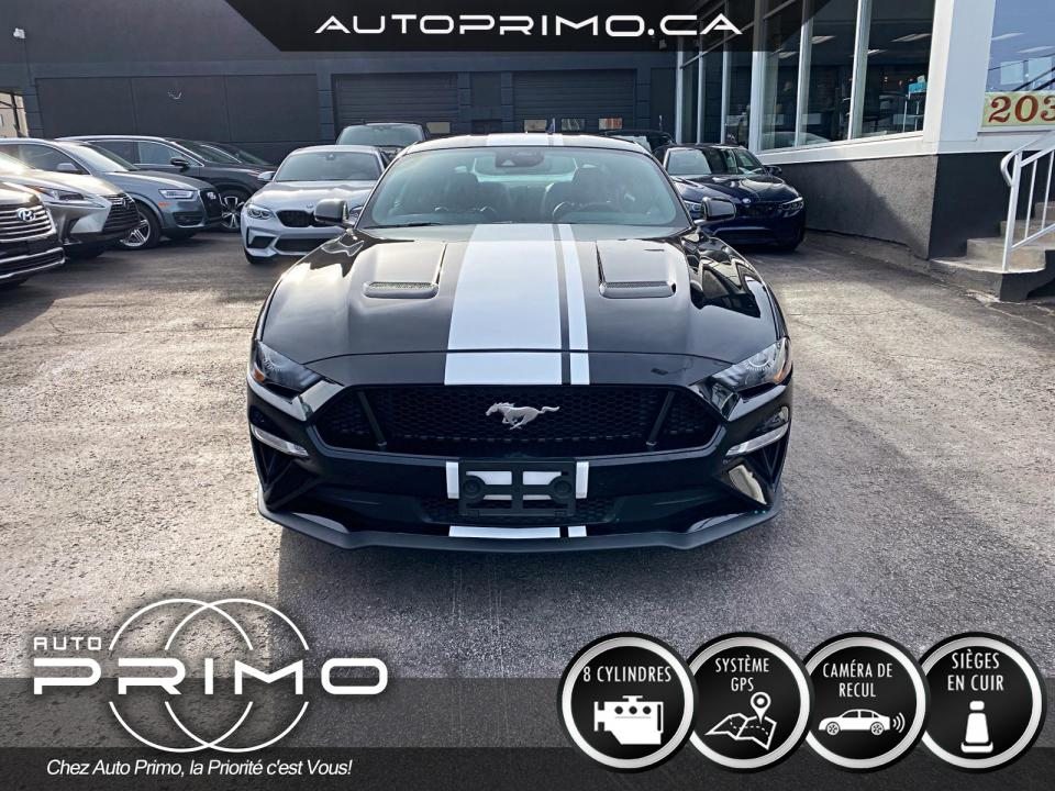Ford Mustang GT 5.0L Fastback Cuir Nav Cam Mags 2021 complet