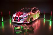Nissan Leaf 2020 : Une voiture décorée pour Noël